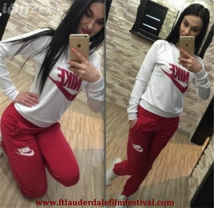 Nike Tracksuit Red And White