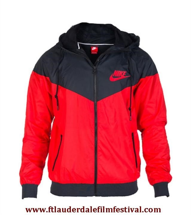 Nike Windrunner Red And Black