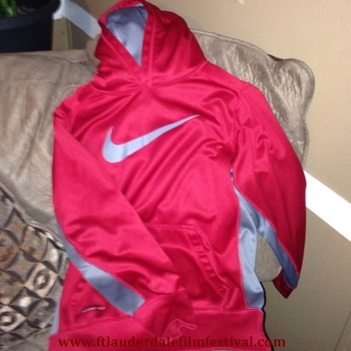 Nike Hoodie Grey And Red